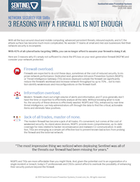3 Reasons a Firewall is Not Enough